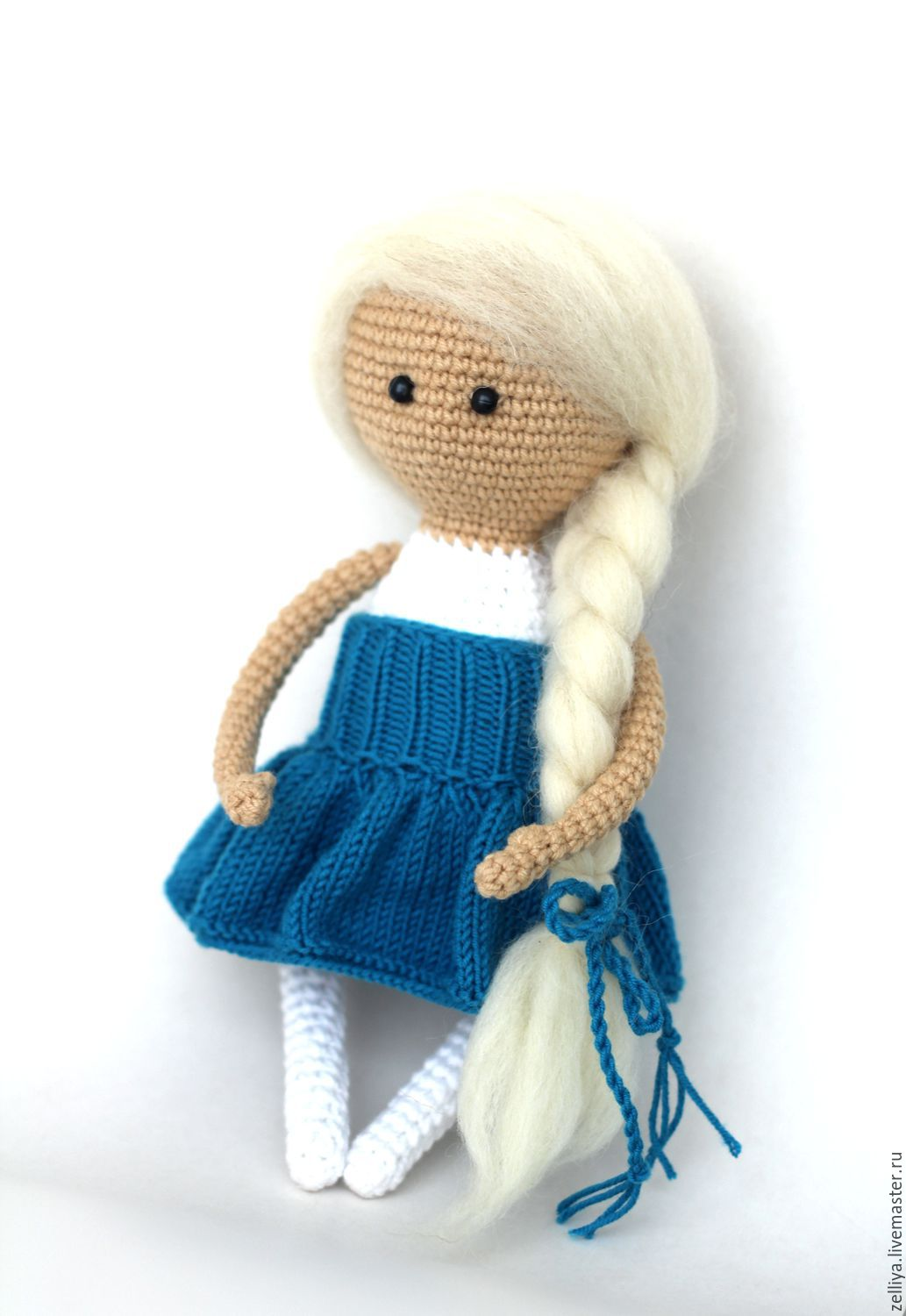Doll. Knitted doll \