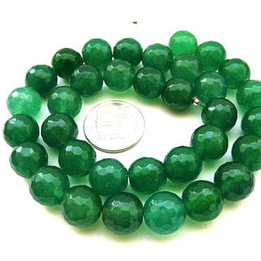 Материалы для творчества ручной работы. Ярмарка Мастеров - ручная работа Агат 34 камня набор зеленый бусины с огранкой 12 мм бордовый. Handmade.