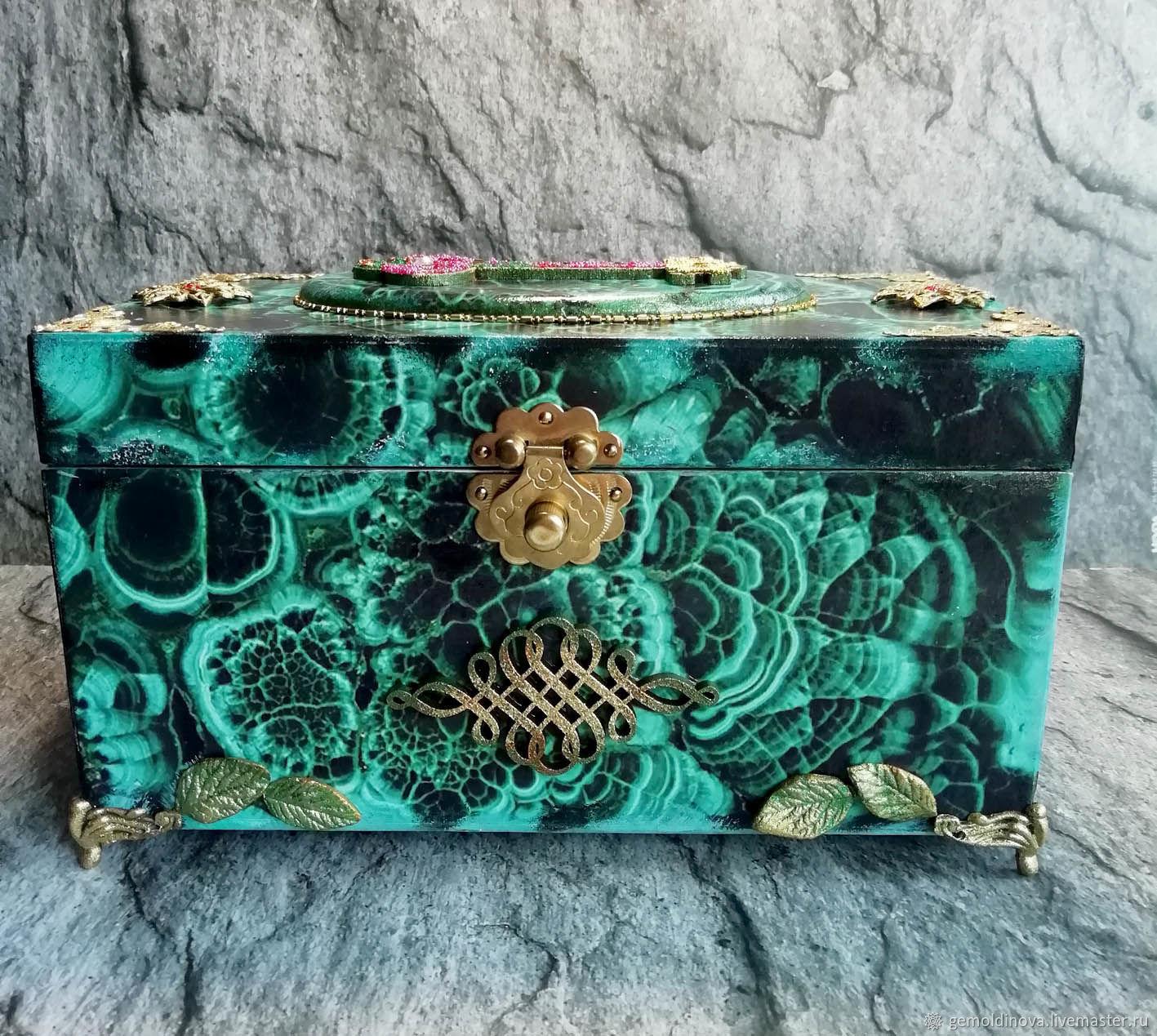 The malachite casket, Box, Yenakiyevo,  Фото №1