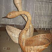 Souvenirs3 handmade. Livemaster - original item Swan for the interior of willow vines. Handmade.