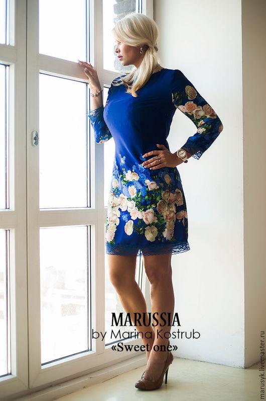 Платья ручной работы. Ярмарка Мастеров - ручная работа. Купить Платье НВ-39. Handmade. Синий, платье вечернее