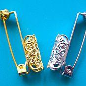 Материалы для творчества handmade. Livemaster - original item Pin boutonnieres. Basis for brooches. Pin Cup. Handmade.