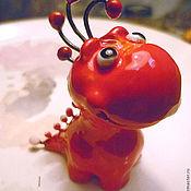 Куклы и игрушки ручной работы. Ярмарка Мастеров - ручная работа Динозавр Клюковка. Handmade.