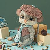 Куклы и игрушки ручной работы. Ярмарка Мастеров - ручная работа Валяный мышонок Пашка. Handmade.