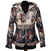Одежда ручной работы. Ярмарка Мастеров - ручная работа Джинсовая куртка с капюшоном, арт. 66302. Handmade.