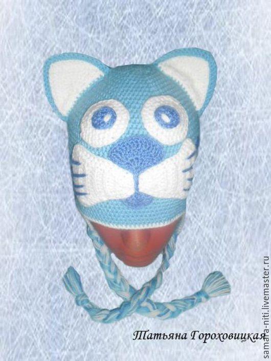 """Шапки и шарфы ручной работы. Ярмарка Мастеров - ручная работа. Купить Шапка """"Котейка"""". Handmade. Комбинированный, зверошапка, шапка кот"""