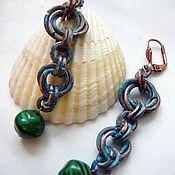 "Earrings handmade. Livemaster - original item Серьги медные ""Атлантида"". Handmade."