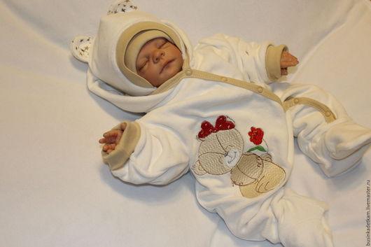 """Для новорожденных, ручной работы. Ярмарка Мастеров - ручная работа. Купить Комплект """"Звездный Мишутка"""" (для девочки и мальчика). Handmade."""