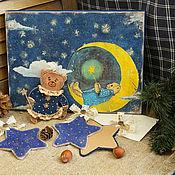 """Подарки к праздникам ручной работы. Ярмарка Мастеров - ручная работа Набор елочных игрушек """"Звездные  медвежата.."""". Handmade."""