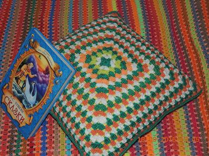 Текстиль, ковры ручной работы. Подушка крючком