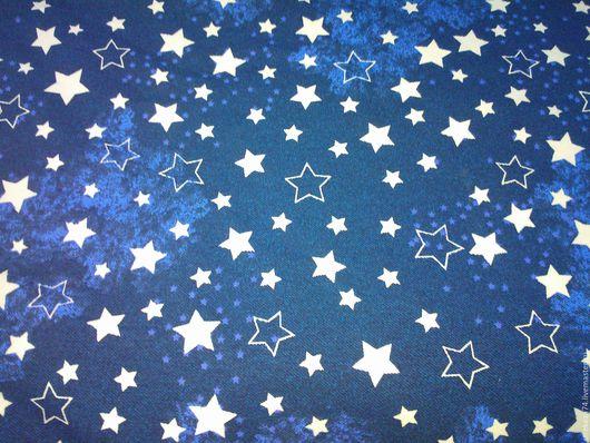 """Шитье ручной работы. Ярмарка Мастеров - ручная работа. Купить Футер с/л  """"Звезды на джинсе"""" 2-х нитка на изнанке петельки. Handmade."""