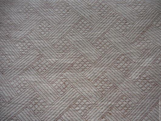 Шитье ручной работы. Ярмарка Мастеров - ручная работа. Купить Ткань лен 100% Плетенка. Handmade. Бежевый, лен