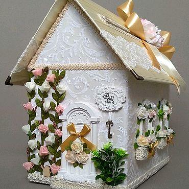 Свадебный салон ручной работы. Ярмарка Мастеров - ручная работа Свадебная казна, ларец, свадебный домик. Handmade.