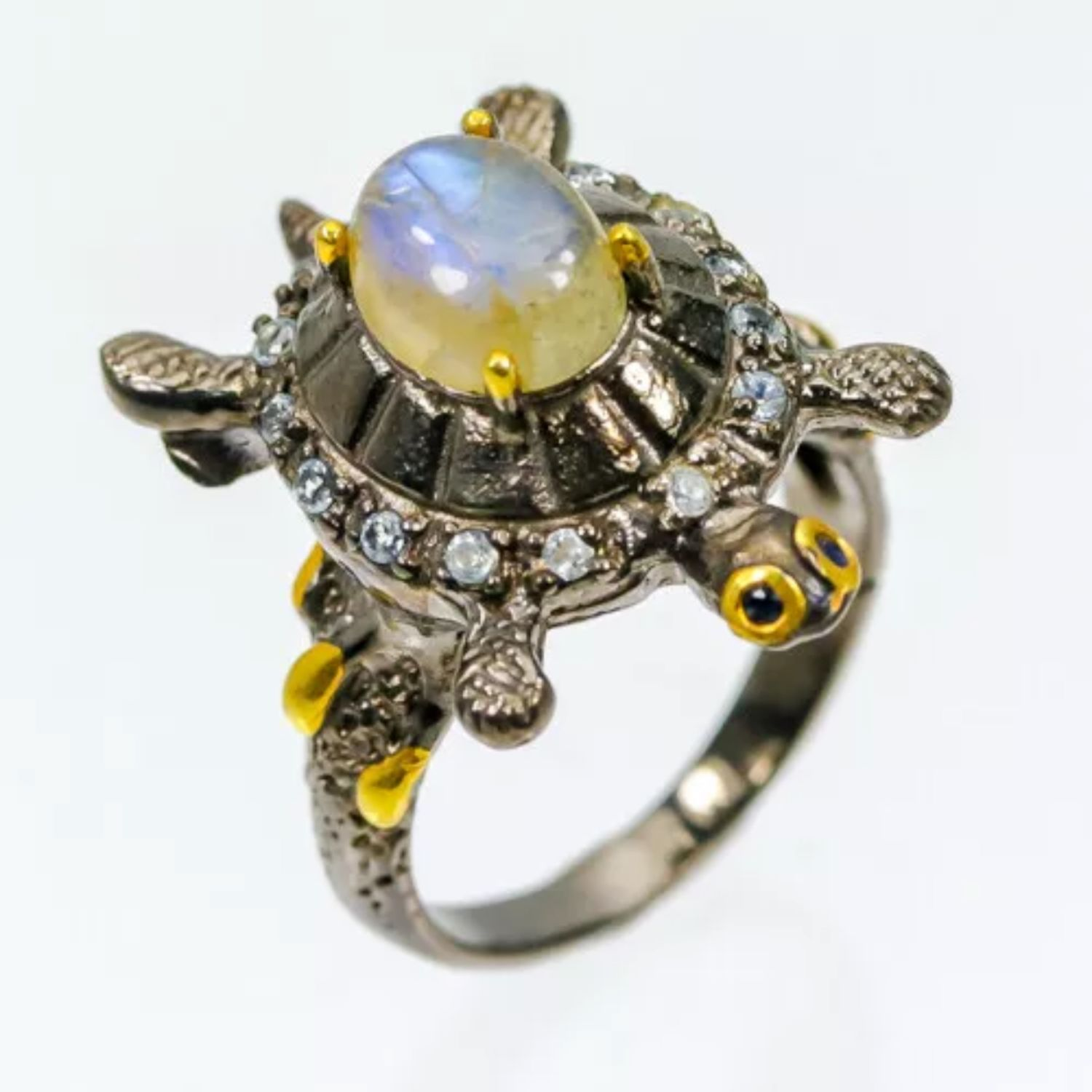 Author's ring Turtle with labradorite, Rings, Moscow,  Фото №1