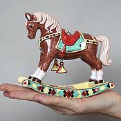 Подарки к праздникам ручной работы. Ярмарка Мастеров - ручная работа Лошадка-качалка. Handmade.