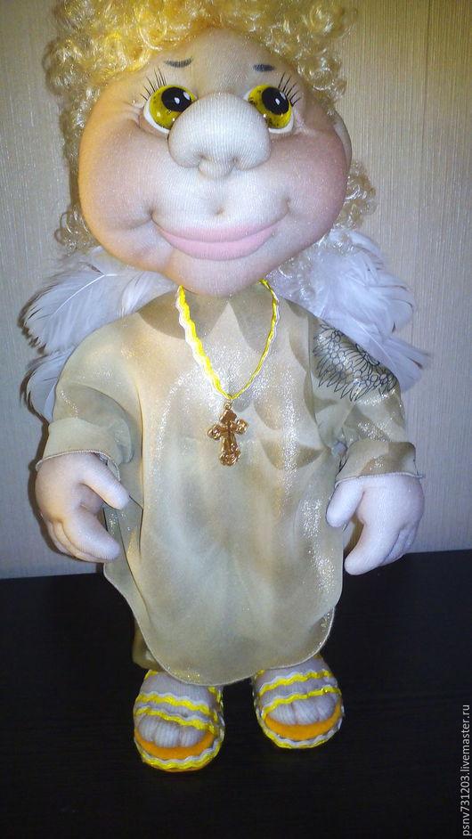 Коллекционные куклы ручной работы. Ярмарка Мастеров - ручная работа. Купить Ангелочек ЗдравоДарчик. Handmade. Бежевый, подарок на любой случай