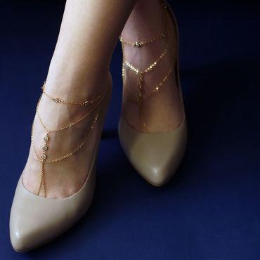 Украшения ручной работы. Ярмарка Мастеров - ручная работа Золотые браслеты на ножки. Handmade.