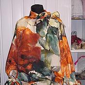"""Одежда ручной работы. Ярмарка Мастеров - ручная работа Блузон из шелка """"Розы"""". Handmade."""