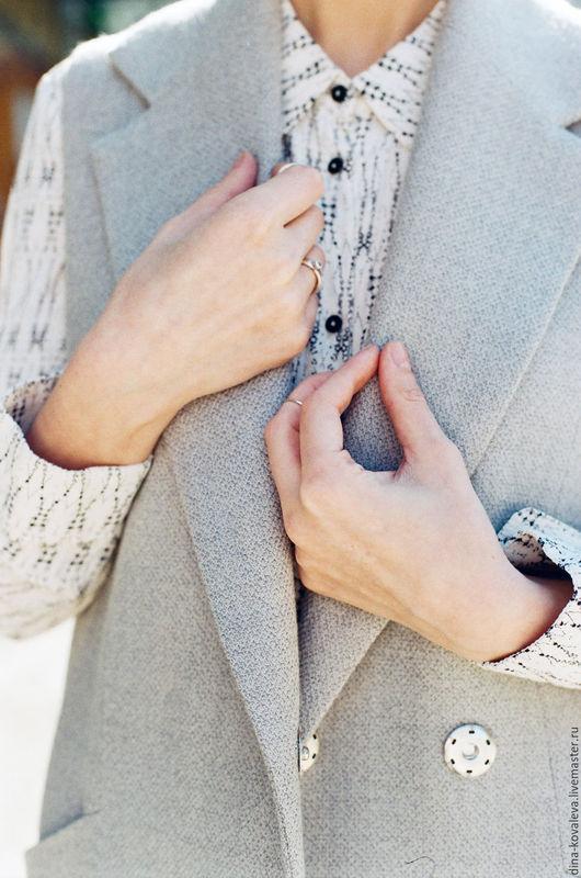 Верхняя одежда ручной работы. Ярмарка Мастеров - ручная работа. Купить Модный удлиненный жилет. Handmade. Серый, пальто демисезонное