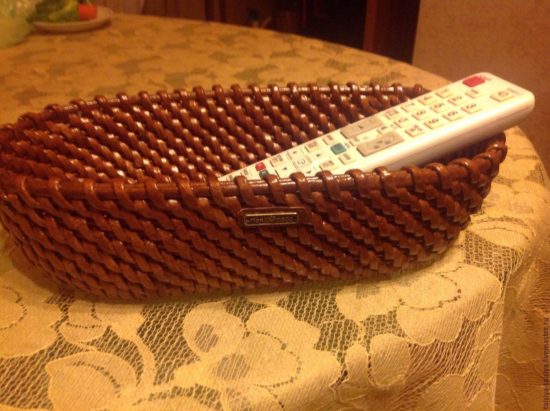 Корзины , короба. Ярмарка Мастеров ТаисиЯ. Плетеная корзинка овальная. Handmade. Коричневый