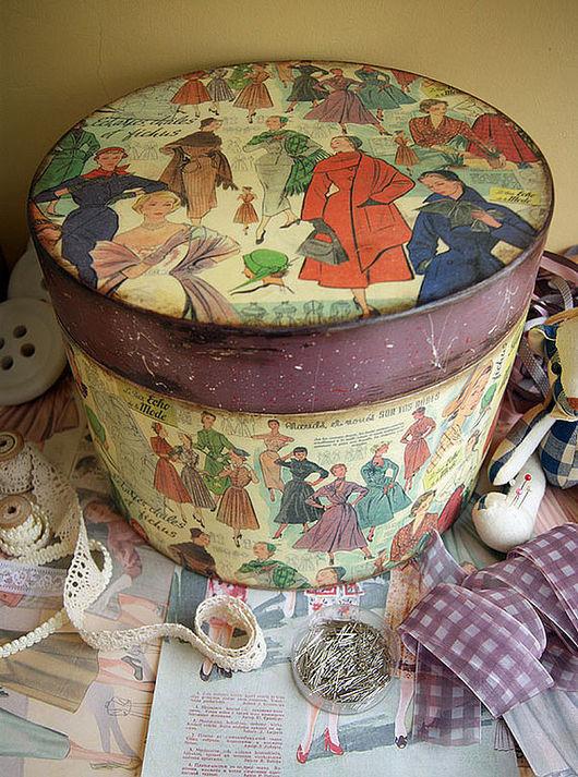 Корзины, коробы ручной работы. Ярмарка Мастеров - ручная работа. Купить Echo de la Mode. Шляпная коробка. Handmade.