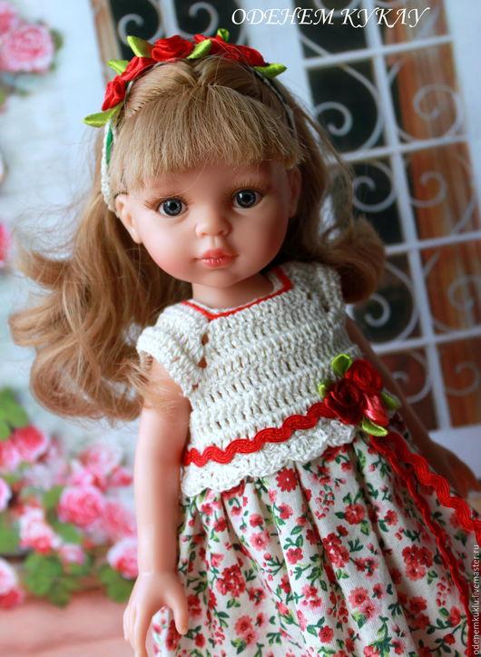 """Одежда для кукол ручной работы. Ярмарка Мастеров - ручная работа. Купить Платье для куклы """"Розочки"""". Handmade. Лимонный, платье на куклу"""