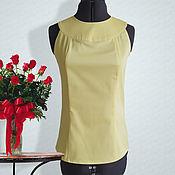 """Одежда ручной работы. Ярмарка Мастеров - ручная работа Ярко желтая блузка """"Ярина"""". Handmade."""