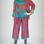 Одежда ручной работы. Ярмарка Мастеров - ручная работа Вязаная юбка-брюки. Handmade.