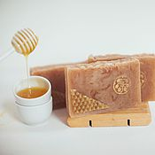 Косметика ручной работы handmade. Livemaster - original item Soap from scratch with natural honey Linden honey handmade yellow. Handmade.