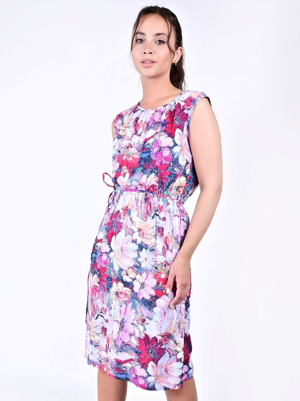 Платье штапель Принт цветы 36-62 р -ры, Платья, Москва,  Фото №1