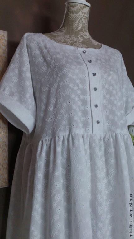 Платья ручной работы. Ярмарка Мастеров - ручная работа. Купить БОХО - Платье уютное 06 БЕЛОСНЕЖКА. Handmade. Белый