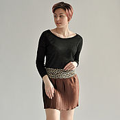 Одежда handmade. Livemaster - original item Pleated skirt brown at the yoke. Handmade.