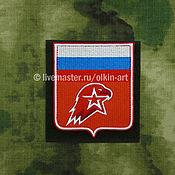Материалы для творчества handmade. Livemaster - original item patch UNAME - eagle in shield (red felt). Handmade.