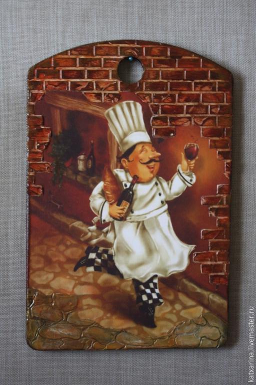 """Кухня ручной работы. Ярмарка Мастеров - ручная работа. Купить Разделочная доска """"Веселый повор"""". Handmade. Коричневый"""