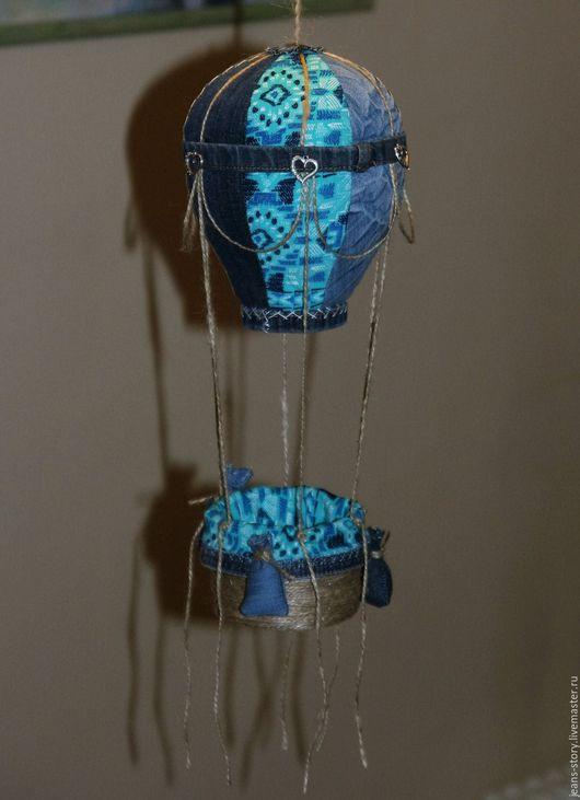 Детская ручной работы. Ярмарка Мастеров - ручная работа. Купить Воздушный шар с корзиной - каждый раз разный). Handmade.