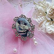 Украшения handmade. Livemaster - original item Vintage Retro Brooch for Mom Pink. Handmade.