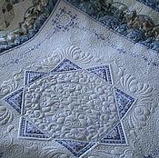 """Для дома и интерьера ручной работы. Ярмарка Мастеров - ручная работа покрывало """"Очарование индиго"""". Handmade."""