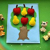 Куклы и игрушки ручной работы. Ярмарка Мастеров - ручная работа Дерево с яблоками (на липучках). Handmade.