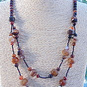 Украшения handmade. Livemaster - original item Necklace made of natural stones agate and spinel of