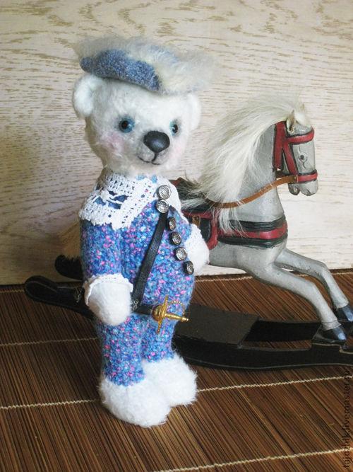 Мишки Тедди ручной работы. Ярмарка Мастеров - ручная работа. Купить Мишка Арлекин-мушкетер. Handmade. Авторская игрушка, медведь