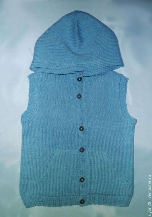 Одежда для мальчиков, ручной работы. Ярмарка Мастеров - ручная работа. Купить Вязаный жилет для мальчика. Handmade. Жилет вязаный