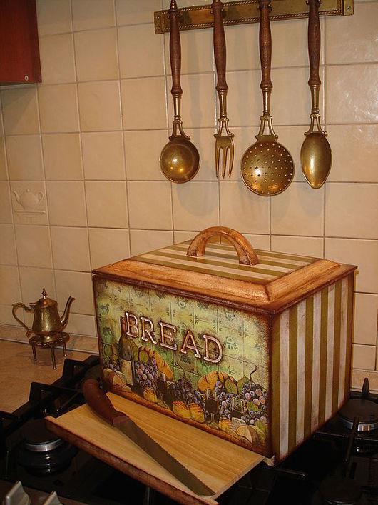 """Кухня ручной работы. Ярмарка Мастеров - ручная работа. Купить """"Хлеб и вино""""  Короб для хлеба.. Handmade. Хлеб, украшение интерьера"""