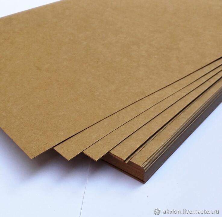 Крафт Картон Kraftpak 225гр формат 297х420 (А3) 100 листов в упаковке, Бумага, Москва,  Фото №1
