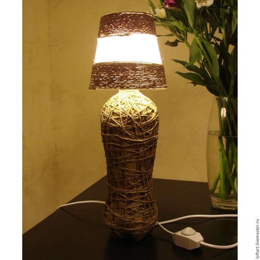 Освещение ручной работы. Ярмарка Мастеров - ручная работа. Купить Настольная лампа в стиле LOFT. Handmade. Коричневый, диммер, детская