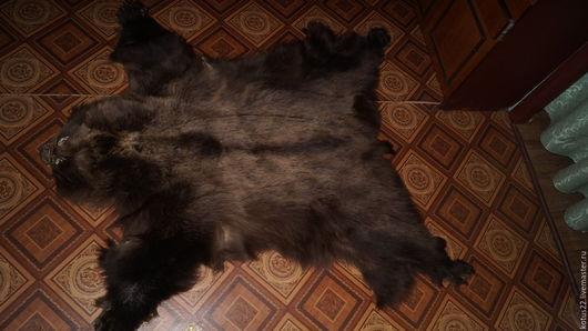 Текстиль, ковры ручной работы. Ярмарка Мастеров - ручная работа. Купить Шкура медвежья. Handmade. Коричневый, мех