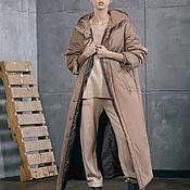 Одежда handmade. Livemaster - original item Women`s insulated coat Beige Sand. Handmade.