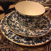 """Редчайший сервиз """"BLUE IVY"""" Royal Worchester,1886 год,идеал, продано"""
