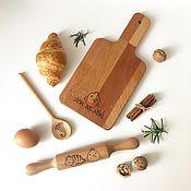 Утварь ручной работы. Ярмарка Мастеров - ручная работа Детский набор: скалочка, доска и ложечка. Handmade.