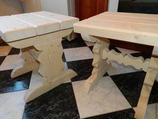 Мебель ручной работы. Ярмарка Мастеров - ручная работа. Купить Деревянные табуретки. Handmade. Белый, стулья, мебель из дерева, липа