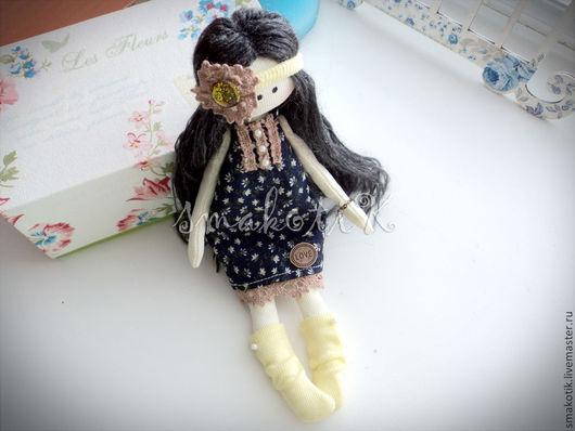Куклы Тильды ручной работы. Ярмарка Мастеров - ручная работа. Купить Текстильная кукла Мила. Handmade. Тёмно-синий, тильда